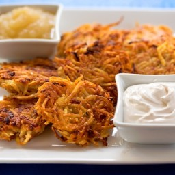 Vegan Latkes (with Gluten-Free and Baked Variations)