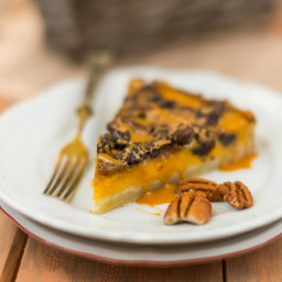 Vegan Pumpkin Pecan Pie