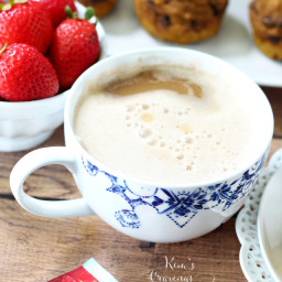 Vegan Pumpkin Spice Tea Latte
