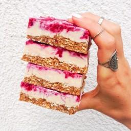 Vegan Raspberry Cheesecake Bars