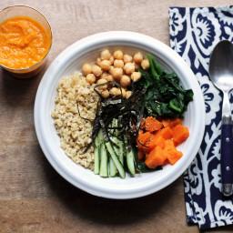 Vegan Sushi Bowl with Carrot Ginger Dressing