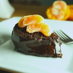 Vegan Cacao Avocado Cake with Chocolate Tangerine Glaze