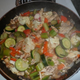 Vegetable stir-fry with Chicken breast