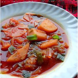 vegetarian borscht soup recipe