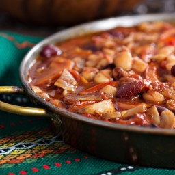 Vegetarian Cashew Chili for Camping