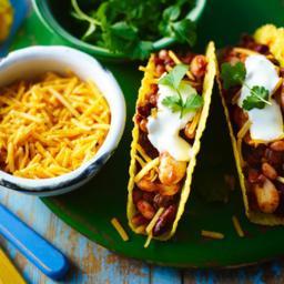 Vegetarian chilli tacos