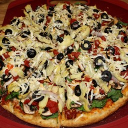 Veggie Deluxe Homemade Pizza