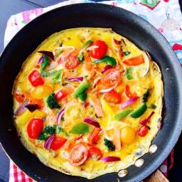 Veggie Stir Fry Omelette