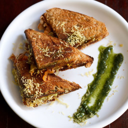 veg masala toast sandwich recipe