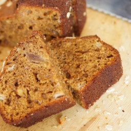 Very soft and fluffy banana and plum bread