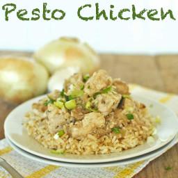 Vidalia Onion Pesto Chicken