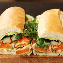 Vietnamese Sandwiches with Tempura Sweet Potato and Avocado (Vegan Banh Mì)
