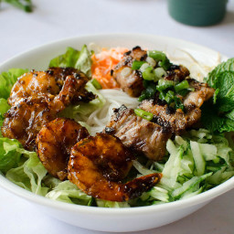Vietnamese Vermicelli Bowls with Grilled Pork and Shrimp (Bun Thit Nuong)