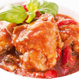 Vince's Crock Pot Chicken Cacciatore