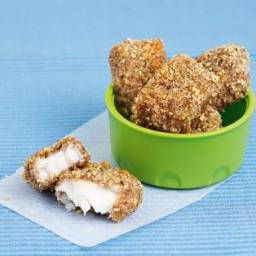 Walnut and Lemon-Crusted Fish Nuggets