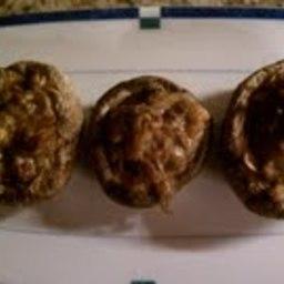 Walnut Stuffed Mushrooms