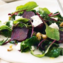 Warm beetroot salad