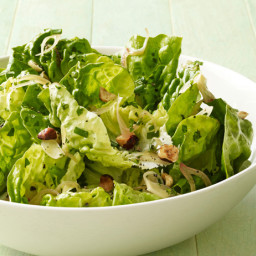Warm Butter Lettuce Salad With Hazelnuts