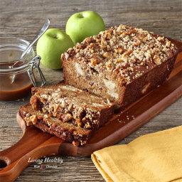 Warm Caramel Apple Pie Bread (Paleo, Gluten-free)