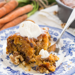 Warm Caramel Carrot Cake