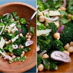 Warm Chick Pea and Broccoli Salad