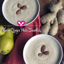 Warm Ginger Pear Smoothie