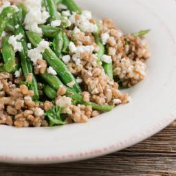 Warm Green Bean and Farro Salad