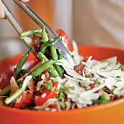Warm Green Bean, Pancetta and Tomato Salad with Parmesan