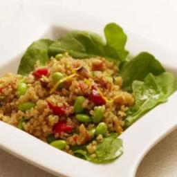 Warm Quinoa Salad with Edamame and Tarragon
