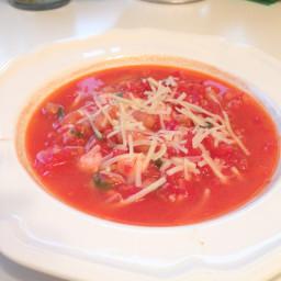 Warm Tomato & White Bean Stew