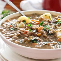 Warm Chicken Lentil Stew