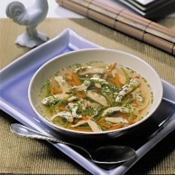 Warming Chicken and Asian Vegetable Soup