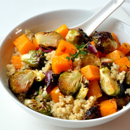 Warm Quinoa and Roasted Vegetable Salad