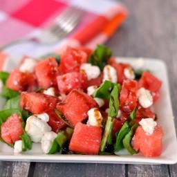 Watermelon Goat Cheese Salad