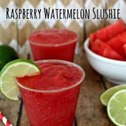 Watermelon Raspberry Slushie