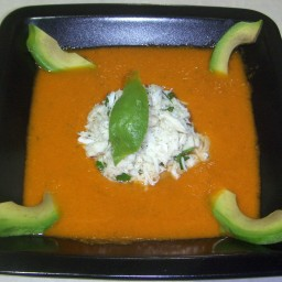 Watermelon Soup with Crabmeat