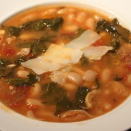White Bean and Escarole/swiss Chard Soup