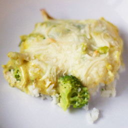 White Chicken & Cheese Broccoli Casserole