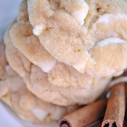 Something Swanky White Chocolate Snickerdoodle Pudding Cookies