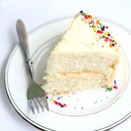 White Almond (or Vanilla) Sour Cream Cake