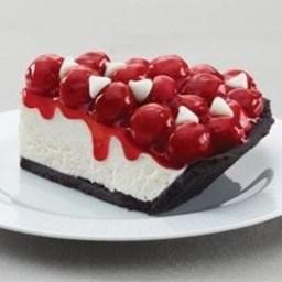 White Chocolate Cherry Cream Pie