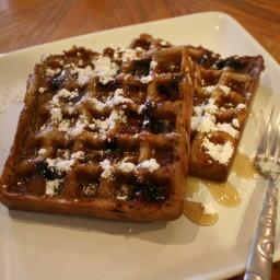 Whole-Wheat Blueberry Waffles