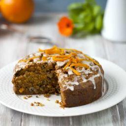 Whole Wheat Carrot Cake Eggless Recipe