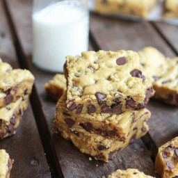 Whole Wheat Chocolate Chip Pumpkin Cookie Bars