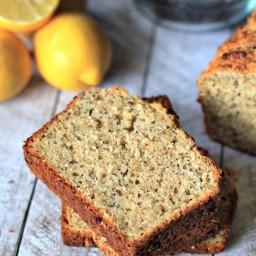 Whole Wheat Lemon Poppyseed Bread with chia seeds