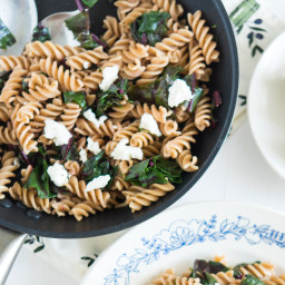 Whole Wheat Pasta Salad with Walnuts and Feta Cheese
