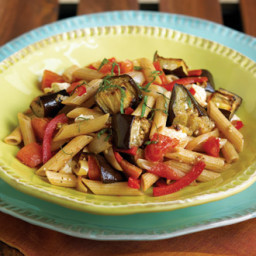 Whole-Wheat Penne with Eggplant and Ricotta