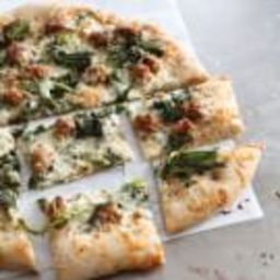 Whole-Wheat Pizza with Broccoli Rabe and Turkey Sausage