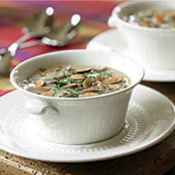 Wild Rice and Mushroom Soup with Almonds