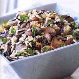 Wild Rice Stuffing with Wild Mushrooms